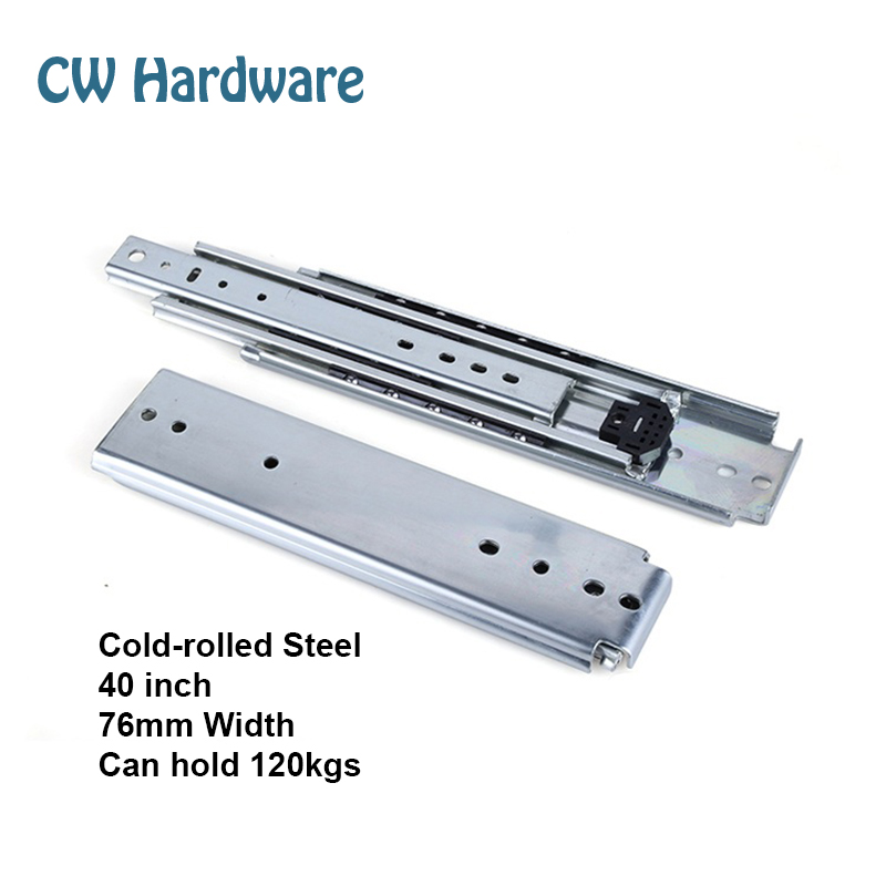 40 inch 4pcs 1016mm Heavy Industry Drawer Slides, Two Pairs Ball Bearing Slides, Slide Accessories 401(China (Mainland))