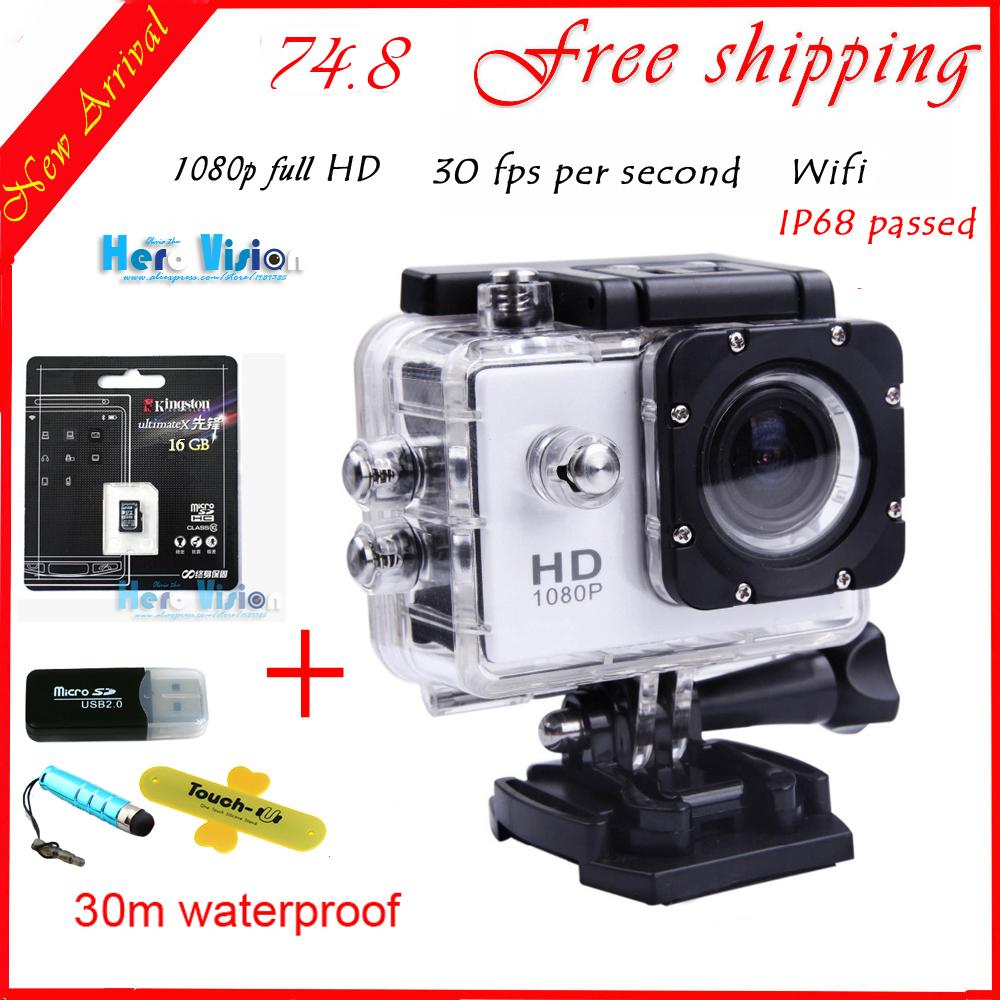 16G sd card + Original gopro like w8 Eken Action Camera WiFi Digital mini Camera 1080P fullHD Camera photos waterproof cameras(China (Mainland))