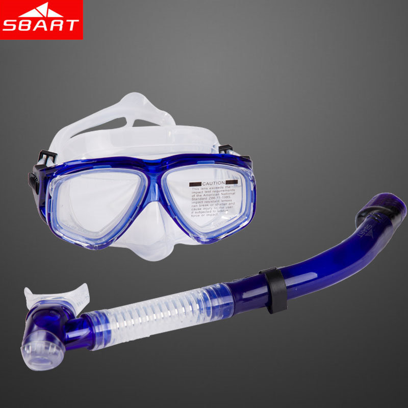SBART Diving Mask And Snorkel Silicone Goggles Myopia Snorkeling Spearfishing Scuba Diving Equipment Set Gafas Buceo -1.5 -6.0 N(China (Mainland))