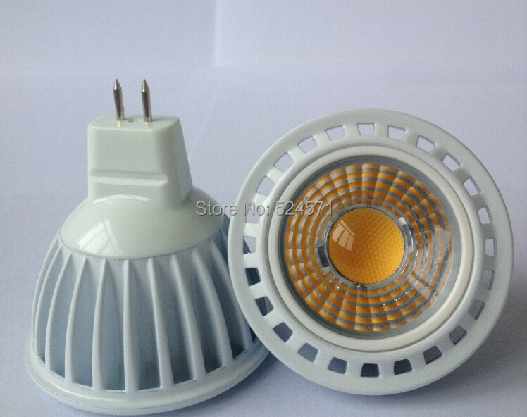 Free shipping MR16 5W warm white/cold white COB led spot light 12v<br><br>Aliexpress