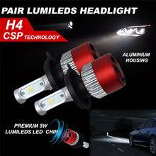 Buy 2017 New H4 180W 18000LM LED Headlight KIT HIGH LOW Beam Replace Halogen Xenon car-styling car lights for $18.71 in AliExpress store