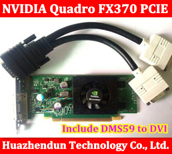 Original High Quality NVIDIA Quadro FX370 PCI-E with DMS 59 Cable and CD Driver FX 370 3D griaphic card 1year warranty<br><br>Aliexpress