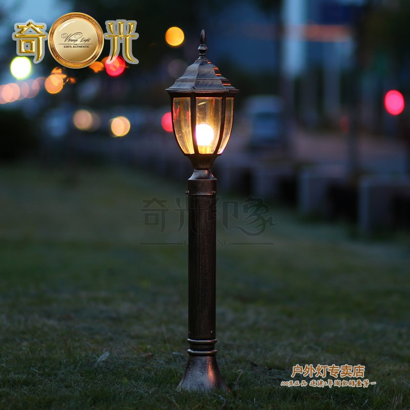 Black bronze 80cm led lawn lamp garden lights road lamp for Garden lights