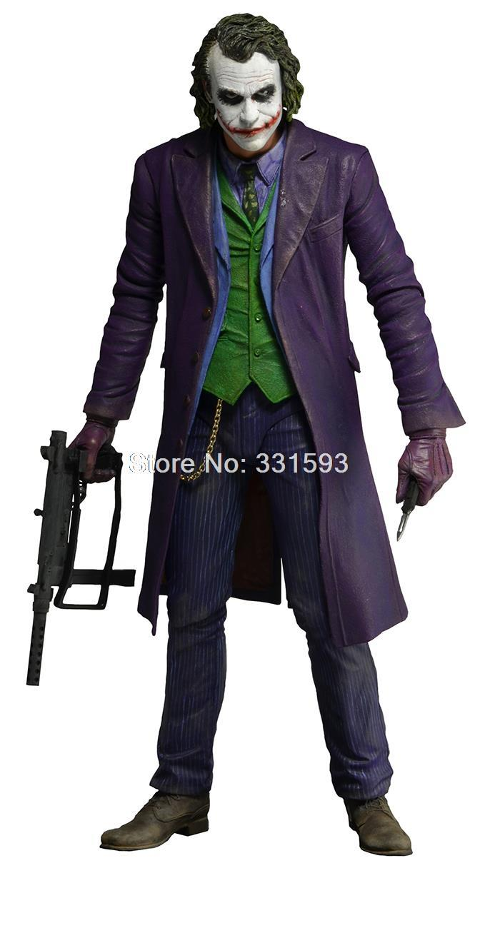 """NECA Figures Batman The Dark Knight The Joker 1/4 Scale Action Figure PVC Collectible Toy Model 16"""" 48CM EMS Free Shipping(China (Mainland))"""