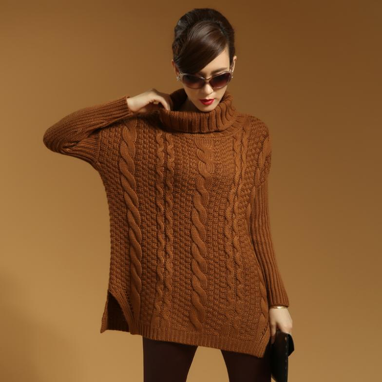 Pullovers Sweater dress  2014 women fashion Winter blouse for women Wool turtleneck sweater Winter collection pullover vintageОдежда и ак�е��уары<br><br><br>Aliexpress