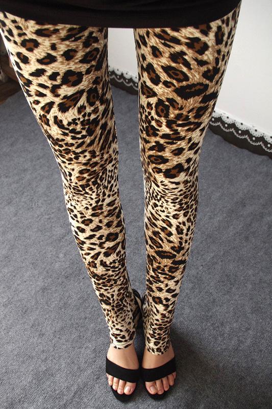 Новое поступление леопарда печатных   сапоги для женщин пят спандекс хлопка высокой талией новинка мода женщин Legins