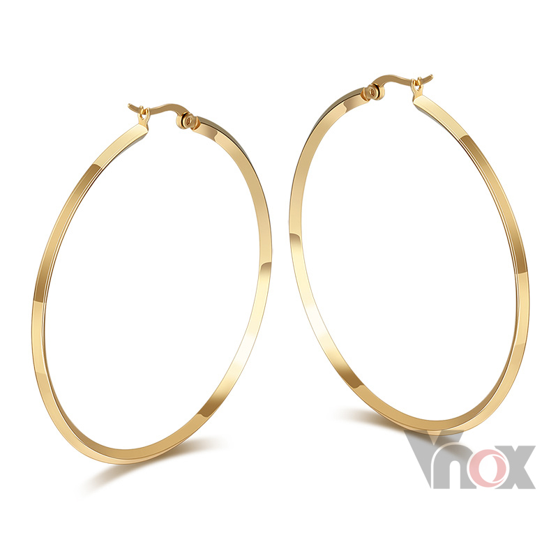 Unique Gold Plated Women39s Hollow Out Hoop Earrings From Reliable Earrings