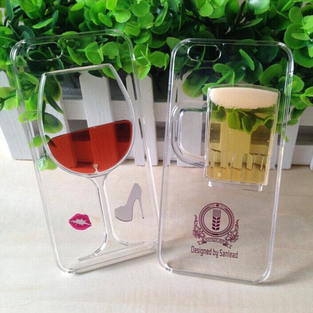 Wine Glass Molding Lquid Quicksand Red Wine Glass