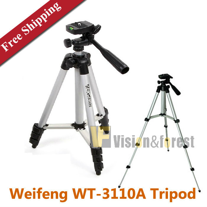 Universal Flexible Weifeng WT-3110A Tripod Portable Camera Tripod with 3-Way Head WT3110A Lightweight Tripod fotografia tripe(China (Mainland))