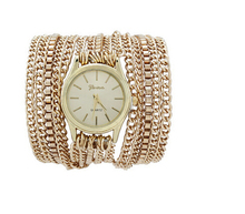 New Hot Women Dress Watches Alloy Chain Wrap Wrist Watch Women And Men Quartz Watch Bracelet Wristwatch Female Clock