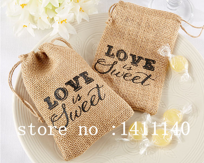 com buy love is sweet burlap candy bags wedding gifts favors ba