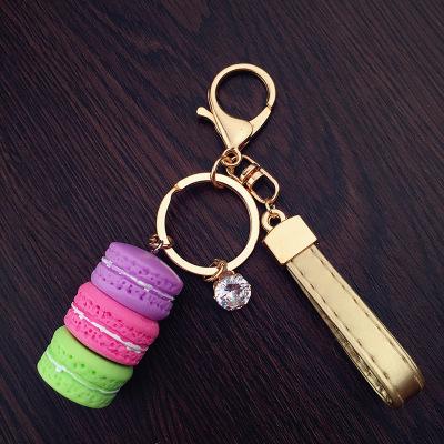 cake key chains fine fashion rhinestone keychain women gold plated jewelry bijoux all match(China (Mainland))