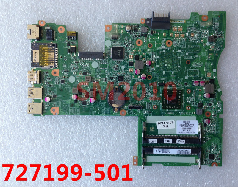 MODEL U73 Laptop motherboard 727199-501 734905-501 for HP Pavilion 14 touchsmart computer TS 14 Sleekbook mianboard DA0U73MB6D0(China (Mainland))