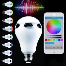 2016 New Arrival Multi-Functional Bulbs Jinnova JH101 E26 / E27 Light Bulb Lamp Intelligent Colorful LED Bluetooth 3.0 Speaker(China (Mainland))
