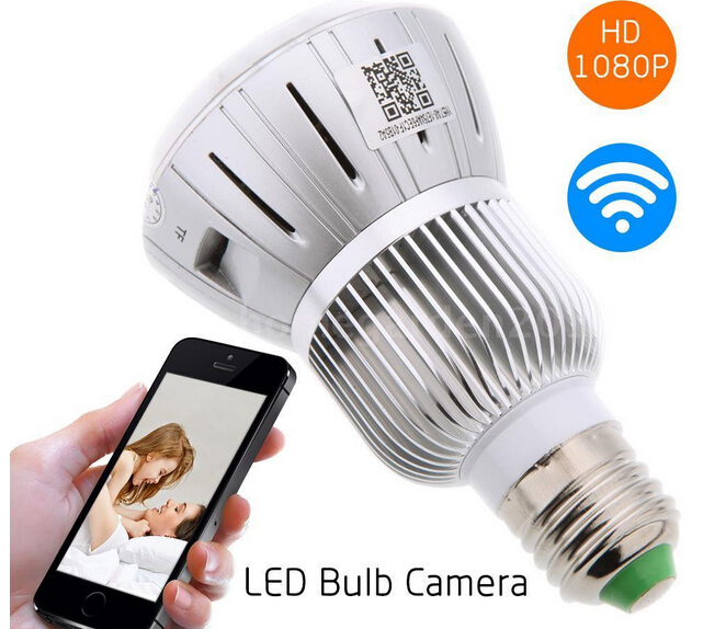 HD 1080P Hidden Smart Home Safty Wifi Camera E27 LED Lamp Bulb Security Camcorder Motion Detection CCTV Support PC Tablet Phones(China (Mainland))