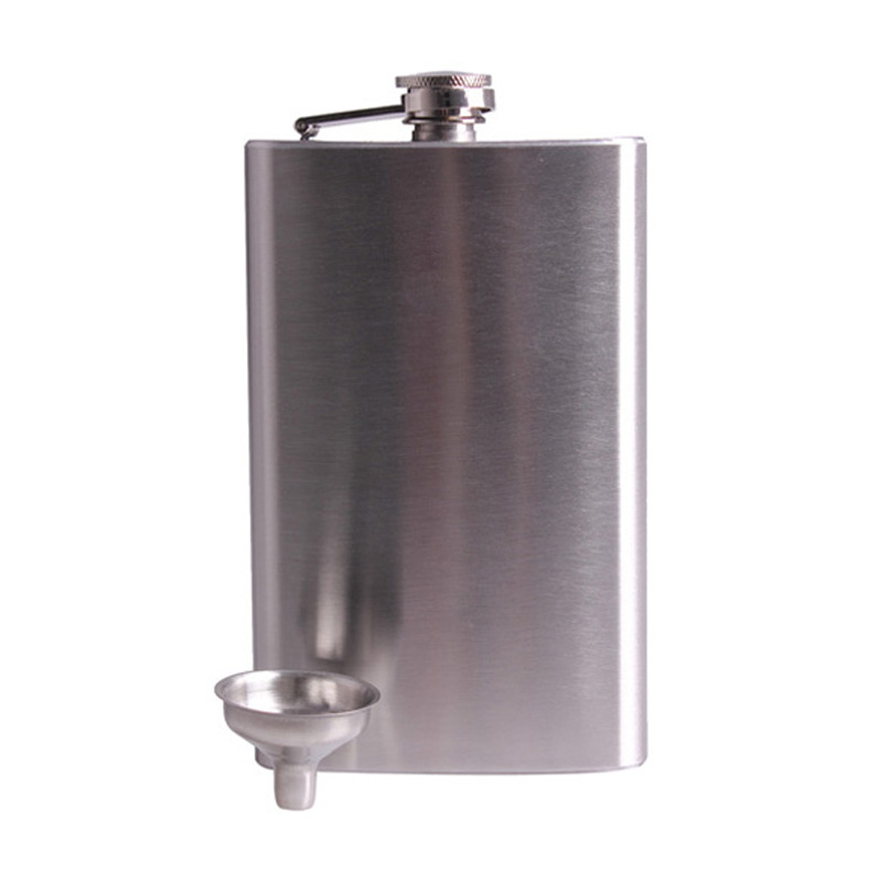 10oz Stainless Steel Hip Flasks Drink Liquor Whisky Alcohol Flask Screw Funnel Cap Free Shipping(China (Mainland))