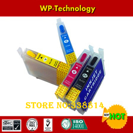 Full ink Refill cartridge suit for T1621 to T1624 ,suit for Epson WF-2010W 2510WF 2520NF 2530WF 2540WF,With ARC Chips