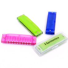 1PCS Free Shipping High Quality Discount Children Child Baby Plastic Mini Harmonica 10-Holes Music Toys Instrument Gift(China (Mainland))
