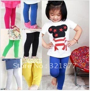 free shipping Girls the candy stretch bound feet bottoming modal pantyhose, trousers