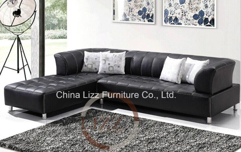 Lizz Modern Black Sectional Sofa Corner sofa(China (Mainland))