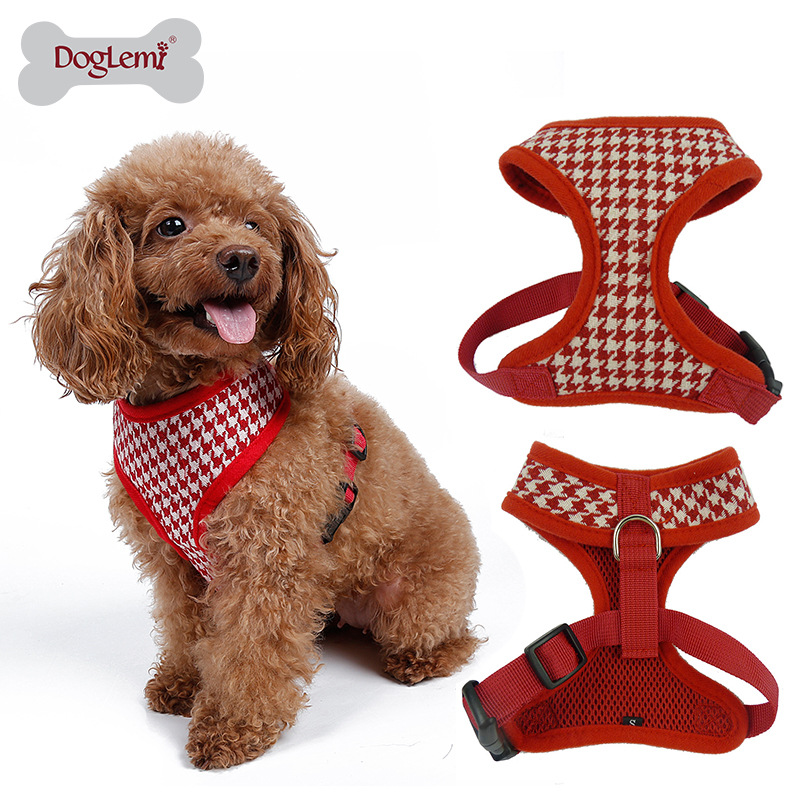 Top quality Fashion comfortable Stripped dog harness Puppy Cat Pet Jogging Vest harness 2 color 5 size(China (Mainland))