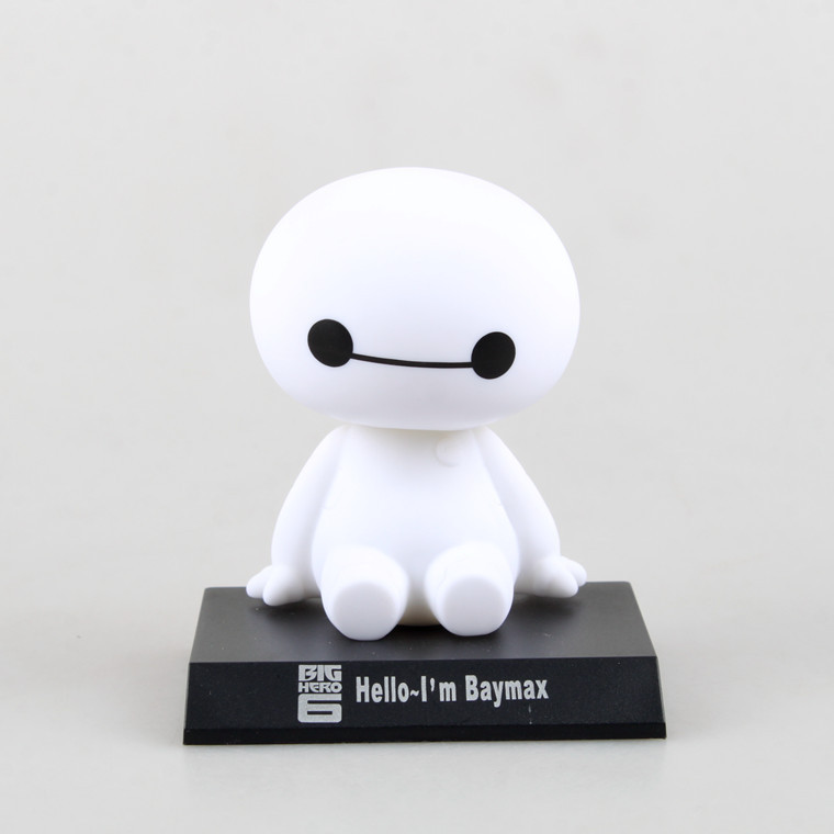 Hot sale Big Hero figures 12cm Big Hero 6 Baymax Toy Model Dolls Lovely Automobile Head Shaking Action Figure toys kids Gifts(China (Mainland))