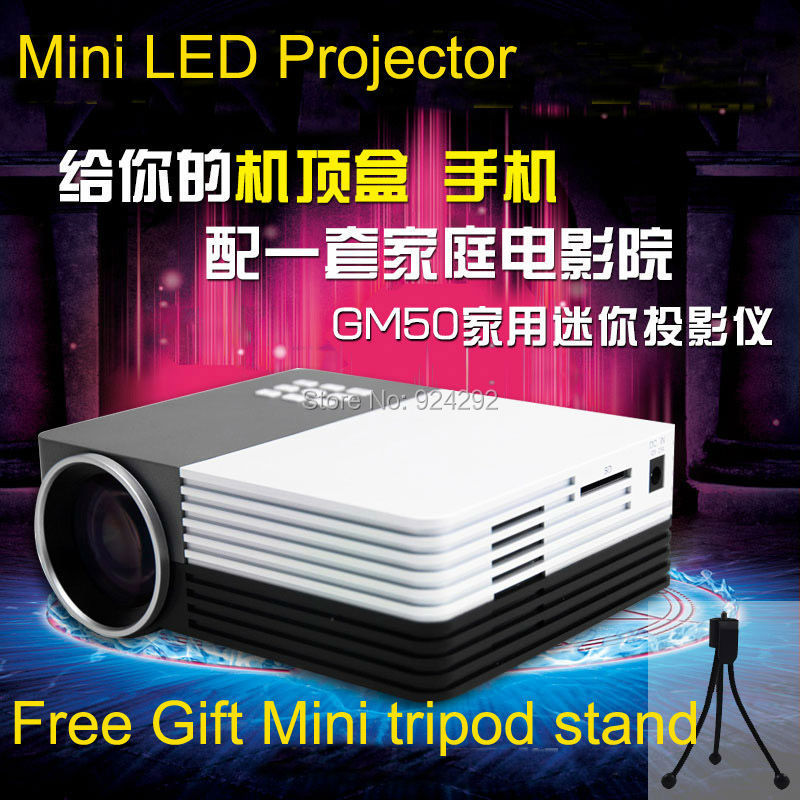 free shipping good gift gm50 1200lumens lcd led cheap low cost projector mini led projector. Black Bedroom Furniture Sets. Home Design Ideas