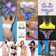 bikini 2016 New Women's Sexy Swimwear Beachwear Bikini Set Push-Up Padded Bra Swimsuit maillot de bain bathing suit biquini
