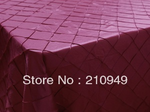 """Free Shipping 20pcs 90""""x156"""" table linens wholesale table clothes Burgundy pintuck table cloth(China (Mainland))"""