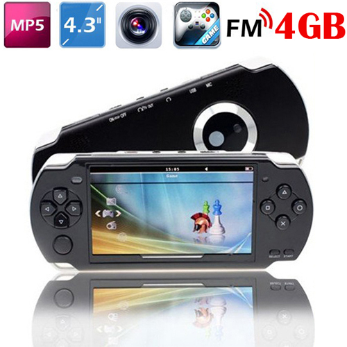 4.3 Inch Screen 4GB Game Console With Camera MP3 MP5 FM TV OUT Media Player Handheld Game Player 100Pcs/Lot Free DHL