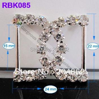 Free shipping+100pcs/lot ,wedding invitation slide buckle, clear czech crystal rhinestone buckle