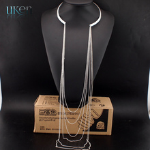 2015 Vintage Jewelry Women Necklaces Pendants Sexy Long Tassel Collares Women Accessories Necklaces N3178