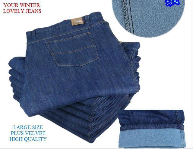 Бесплатная доставка большой большой плюс бархат утолщение мужской джинсы Большой ...