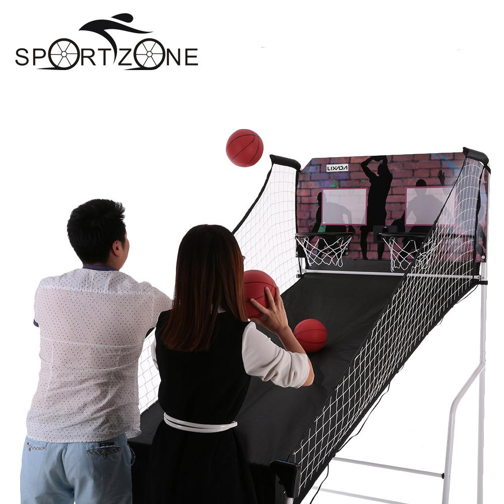 Lixada Electronic Basketball Ball Return Double Shootout Shot Game Set System Competition Home Indoor(China (Mainland))