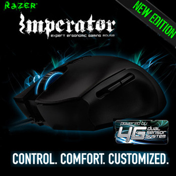 4G Razer Imperator, Original & Brand NEW in Box, Gaming Mouse, Free & Fast Shipping, 5600 DPI, 3.5G laser Gaming Mouse