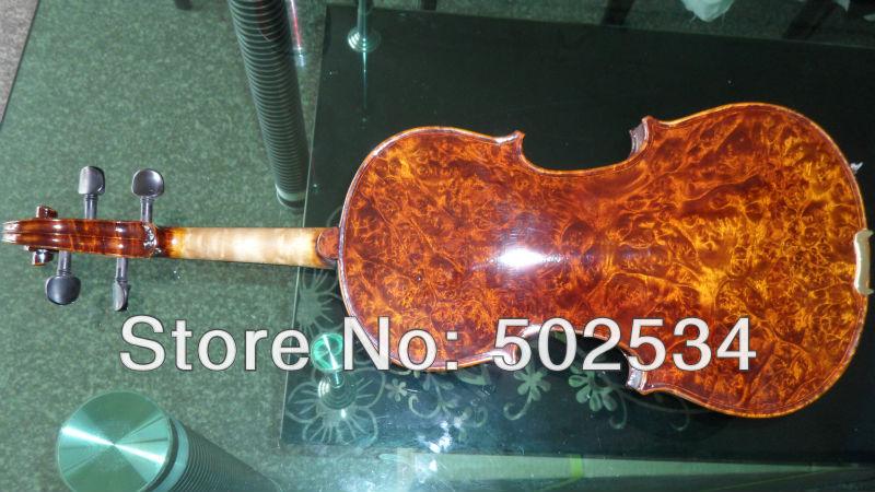 4/4Bird's eye maple Violin/Ebony pegs, chinrest, tailpiece(China (Mainland))
