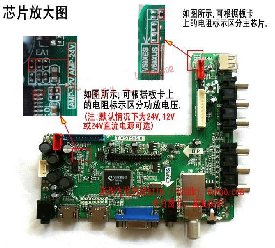 Free Shipping! 1pc Leroy T.VST59S.81A Full HD LCD driver board USB Dual HDMI HD L-shaped LED screen TV Board
