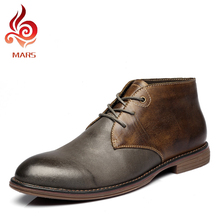 2015 Men Shoes Full Grain Leather Winter Boots Men Super Warm Shoes Men Fashion Male Ankle Martin Boots Plus Size:38-45 A9009