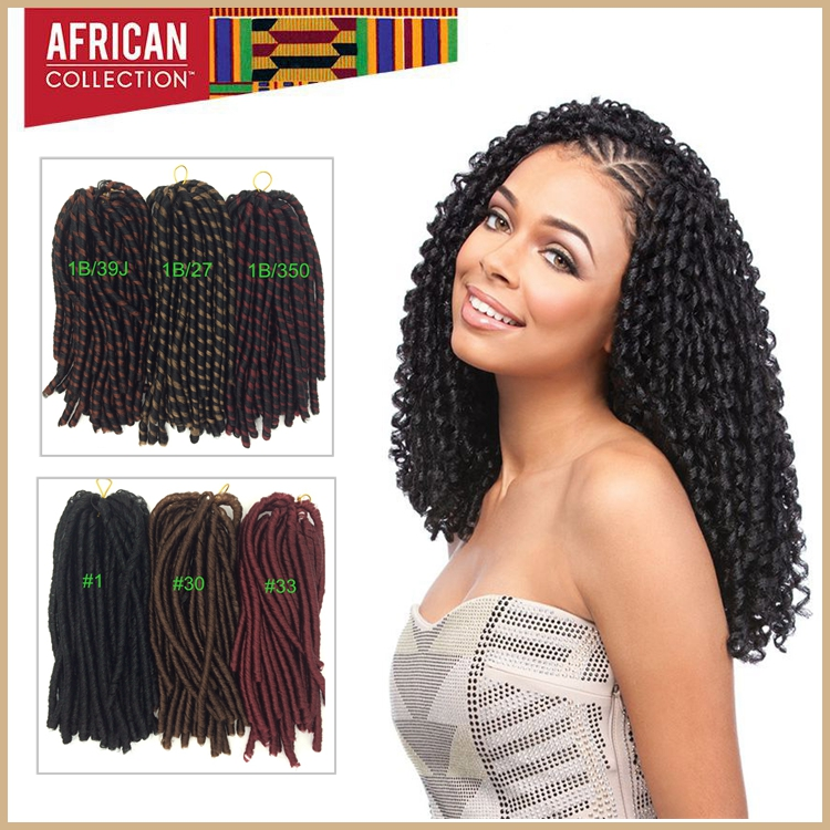 1 28inches 85g 100% Kanekalon Synthetic Nina Soft Dreads African Hair Braiding Extensions - Queen&Hair store