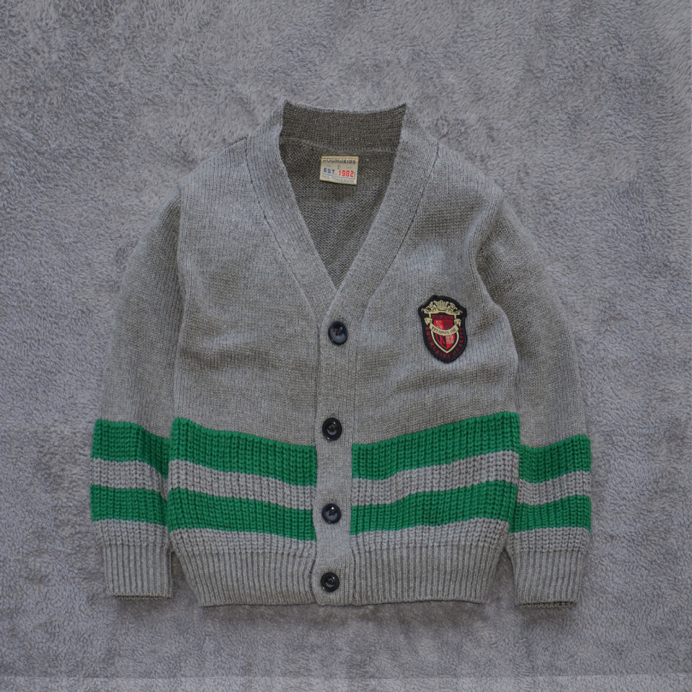 High Quality Preppy Style Cardigan Sweater for (2-7 Years) Kid Girls Boys Knitwear Green & Blue Free Shipping(China (Mainland))