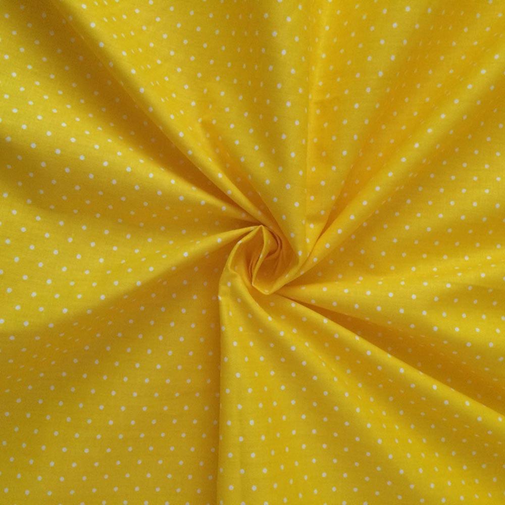 200*160cm yellow mini white polka dot jade 100% cotton twill fabric handmade quilting DIY decor tissue patchwork textile cloth(China (Mainland))