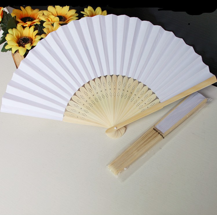Chinese Fans Chinese Blank Paper Fan Wooden Folding Fan (Set of 50) For DIY Painting Stage Performance Art Collection(China (Mainland))