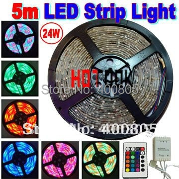 5m Waterproof RGB LED Strip 3528 SMD IP65 led stripe Light 12V 60LEDs/M indoor lighting tiras led tape for christmas decoration(China (Mainland))