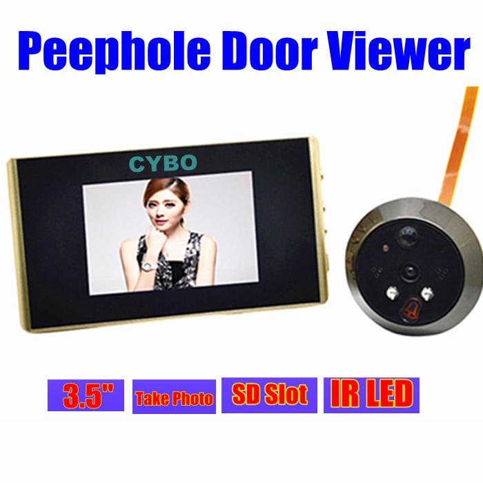 "Гаджет  3.5"" LCD digital video door phone peephole viewer IR nightvision door peephole video camera Recording sd card slot None Аппаратные средства"