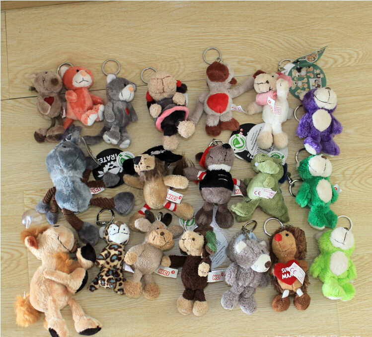 9cm 10pcs/lot NICI plush toy doll high-quality small pendant Keychain free shipping(China (Mainland))