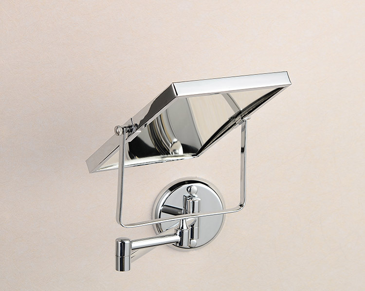 "Rectangular Over Mirror Light In Matt Nickel Or Polished Chrome: 8"" Double Side Bathroom Folding Brass Shave Makeup Mirror"