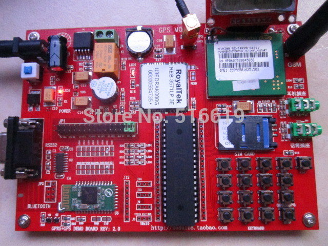 Free shipping SIM300 development board /51 chip GSM/GPS/GPRS/MMS module to send 5110 LCD screen(China (Mainland))