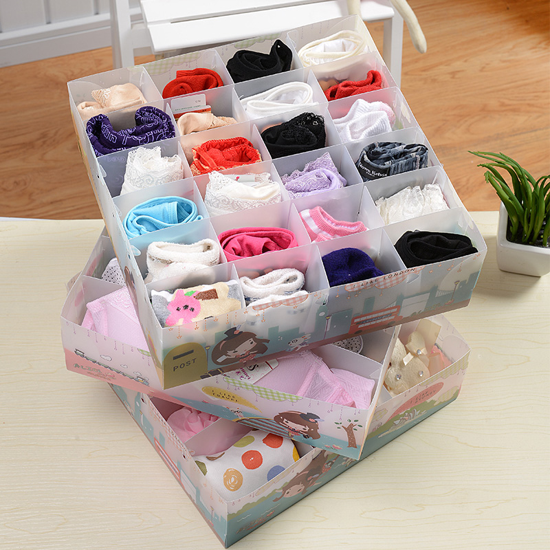 new arrival underwear storage box plastic storage box panties socks storage(China (Mainland))