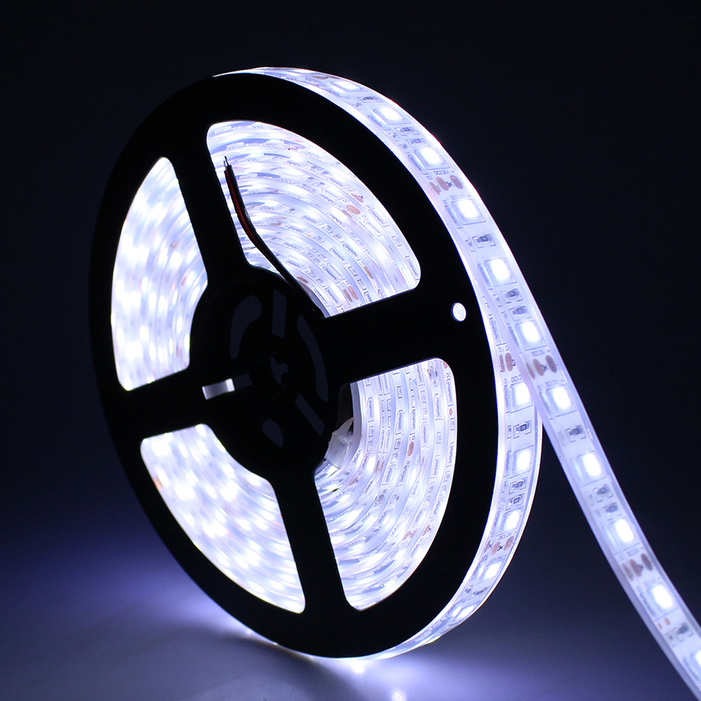 Tanbaby IP67 Waterproof Led Strip Light SMD 5050 flexible roll tape DC12V 5M 300 LED RGB White Outdoor underwater decoration(China (Mainland))