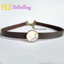 Buy 2017 New Leather Choker Pendant Little Prince Necklace Little Prince Jewelry Glass Photo Pendants Vintage Leather Accessory for $1.50 in AliExpress store